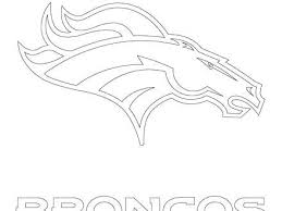 Denver Broncos Logo Coloring Page For Denver Broncos Coloring Pages