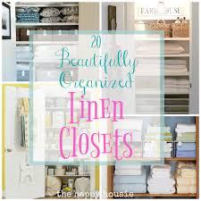 Linen Closet Design Plans 20 Beautifully Organized Linen Closets The Happy Housie