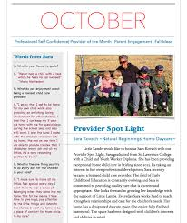 october newsletter ideas october newsletter little lambs home daycare agency