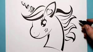 How To Draw A Cute Unicorn Tribal Tattoo Design Style