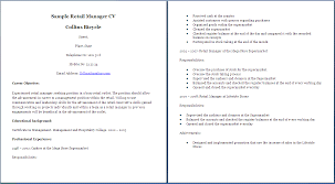 sample resume for retail supervisor position cover letter sample resume for retail supervisor position retail store supervisor resume sample job descriptions resume examples retail