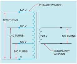 electrical principles guide single phase transformers 12 transformer multiple tapped primary winding