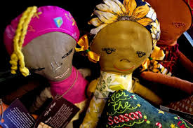 dolls sit on display at gift of hope boutique in downtown midland the sells
