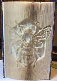bee cut fold book folding pattern