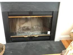 replace fireplace insert doors glass