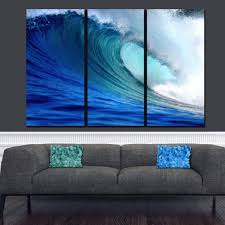 on large multi panel canvas wall art with ocean wave canvas wall art holycowcanvas