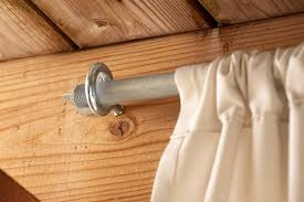 how to make inexpensive curtain rods for your front porch