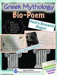 best images ancient greek greek history greek mythology bio poem activity middle grades research poetry