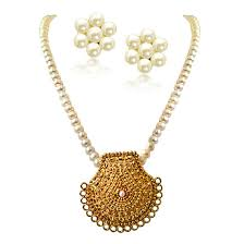 my sunshine gold plated pendants single line real pearl necklace pearl set