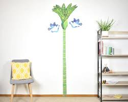 Nikau Palm Tree Growth Chart Wall Decal Growth Chart Decal Height Chart Decal Tree Height Chart Wall Sticker Kiwiana Nursery