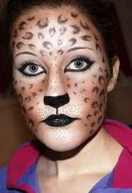 leopard face makeup
