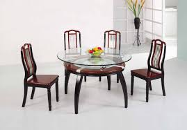 best glass top for wood dining table for your dining room design round clear glass