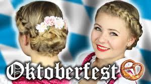Oktoberfest Frisur Einfach Geflochten Wiesn Youtube