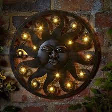art celestial sun led wall art available at this is it s uk metal