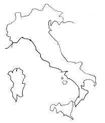 イタリアのフリー素材の地図手書きの地図で旅しよう