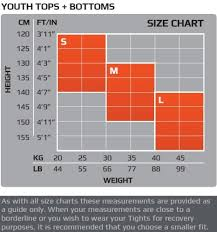 2xu Youth Compression Tights Size Chart 2xu Youths Short Sleeve Compression Top