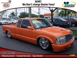 2001 Custom Orange Chevrolet S10 Extended Cab #65229265 Photo #3 ...