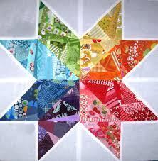 Scrappy Rainbow Star Quilt Block | FaveQuilts.com &  Adamdwight.com