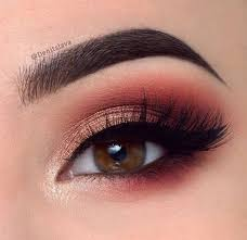 red toned smokey eye 10 makeup looks for brown eyes