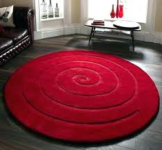 red round rugs rug spiral modern bathroom large for living room red round rugs blue wayfair