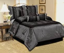new leopard silver gray black comforter