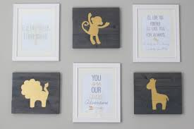 diy hand painted nursery wall art