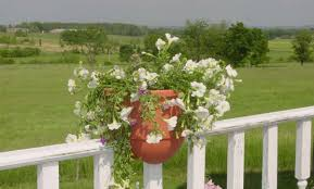 Painted Fences beautiful deck rail planters with dull white painted wood porch 2741 by xevi.us
