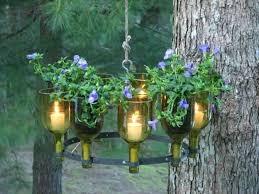 wine bottle garden chandelier herb diy amazing ideas for using bottles in the