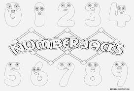 Numberjacks Drawingcoloring Video And Downloadable Coloring Page