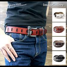 a belt cowhide a buckle alloy