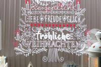 Unsere Weihnachtsdeko An Der Balkontre Gemalt Mit