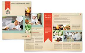 school brochure design ideas culinary school brochure template design