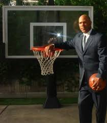 pro dunk hoops. Former Professional Player Mario Ellie With His Pro Dunk Gold Hoops
