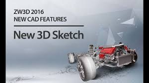 ZW3D <b>2016 NEW</b> CAD FEATURES: <b>New 3D</b> Sketch - YouTube