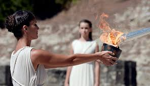 flame lighting olympics. the lighting of olympic flame for 2014 sochi olympics took place sunday in ancient 2