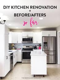 this all white kitchen was the result of a diy kitchen renovation using home depot s