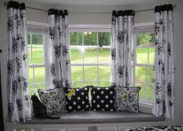 Interior: Exquisite Picture Of Window Treatment Decoration Using ... Window  Seat CurtainsBay ...