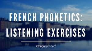 Spell a few words to your partner and see how you do, and then swap turns and write. French Phonetics Listening Exercises