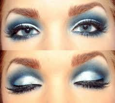 silvery blue and white eye makeup really pretty frosty look for winter the holidays