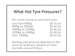 What Tyre Pressure For Racing What Hot Pressure