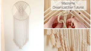Macrame Wall Hanging How To Make A Macrame Wall Hanging Dreamcatcher Tutorial Youtube