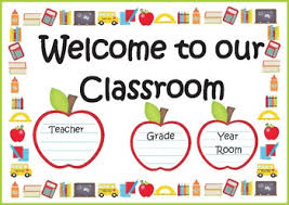 Welcome Chart Images Welcome Chart For Classroom Door Welcome Door Sign Poster