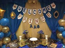 Blue And Gold Baby Shower Decorations Royal Blue And Gold Baby Shower Cake Table Decorations Baby