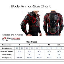 Leather Jacket Size Chart Rider Lounge Motorcycle Armor Protection Body Protective Gear Motocross Motorbike Jacket Motorcycle Jackets