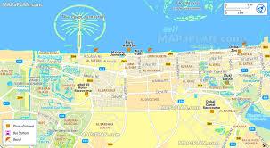 dubai attractions map  map of dubai attractions (united arab