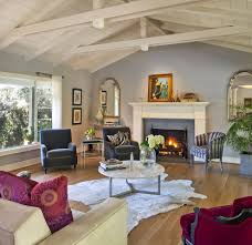 Mantle Without Fireplace Mantle Without Fireplace Living Room Eclectic With Red Throw