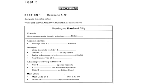 Word Test 3 Ielts Listening Cambridge Book 13 Test 3 Fluency Focus