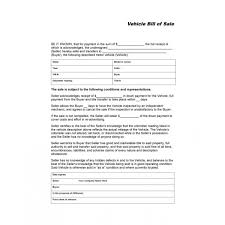 Dmv Bill Of Sale Stunning Vehicle Bill Of Sale Automobile Forms Standard Forms