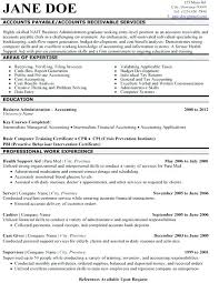 Sample Resume For Business Administration Graduate Accounts Payable