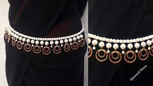Simple Kamarband Designs How To Make Beautiful Pearl Waist Chain At Home Kamarband Designs Vaddanam Jewelry Making